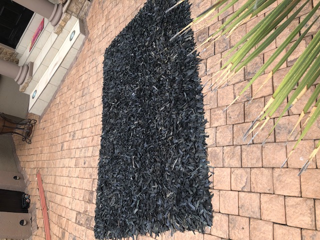 Black Leather Carpets for Sale.