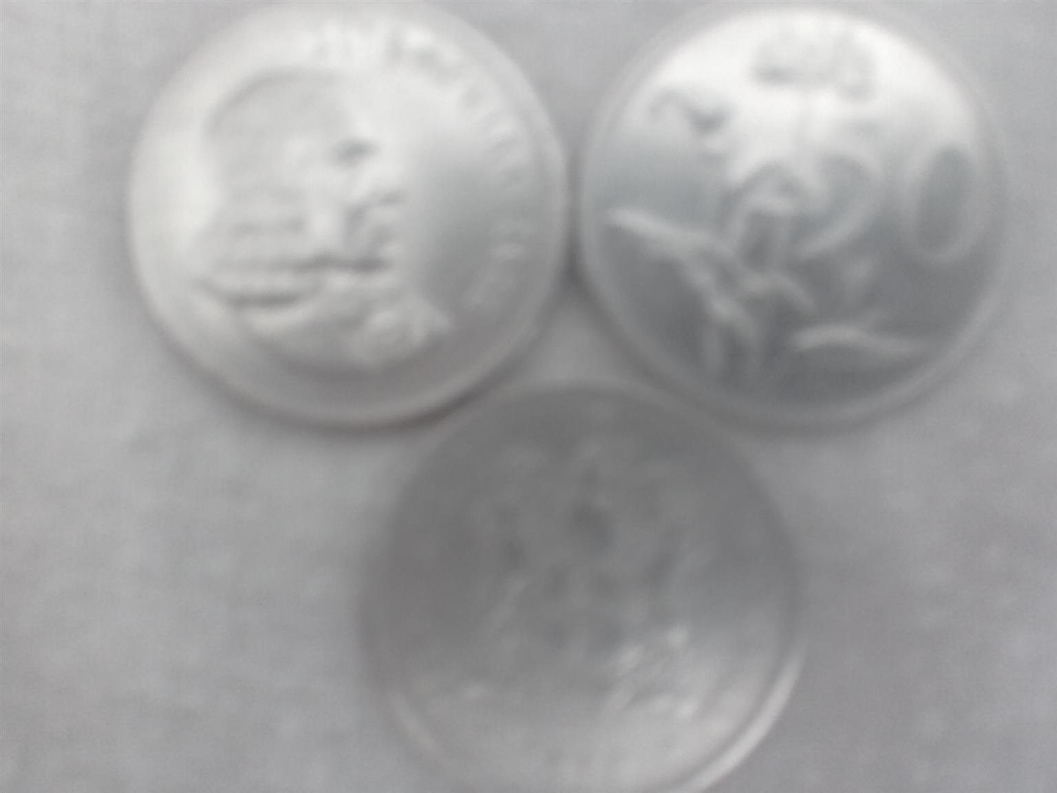 Extremely Rare SA Silver Large R1 coins