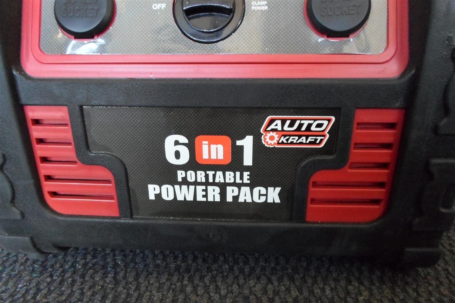 Auto Kraft 6in1 Portable Power Pack