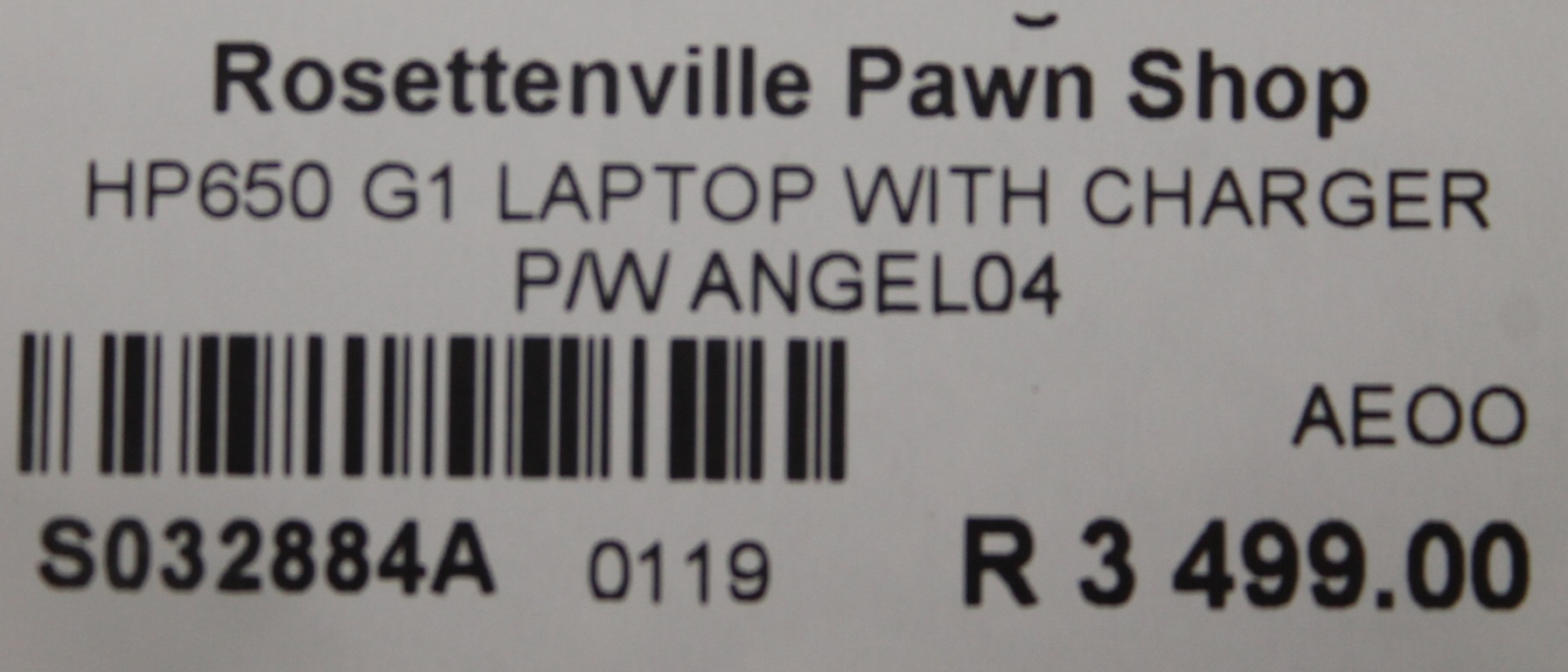 HP 650 G1 laptop with charger S032884A #Rosettenvillepawnshop