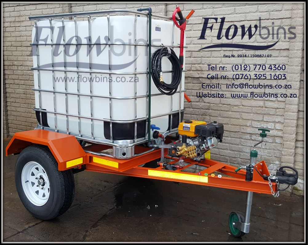 NEW 1000L Pressure Washer - Fire Fighter 178 Bar adjustable - Bakkie Skid and Trailers from R11 290