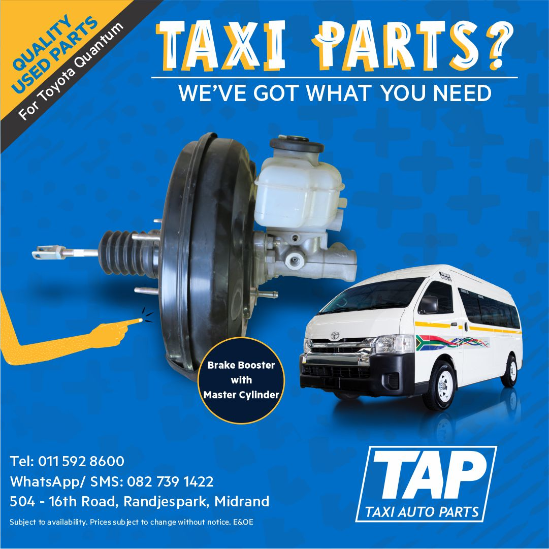 Brake Booster with Master Cylinder for Toyota Quantum - Taxi Auto Parts  quality used spares - TAP | Junk Mail