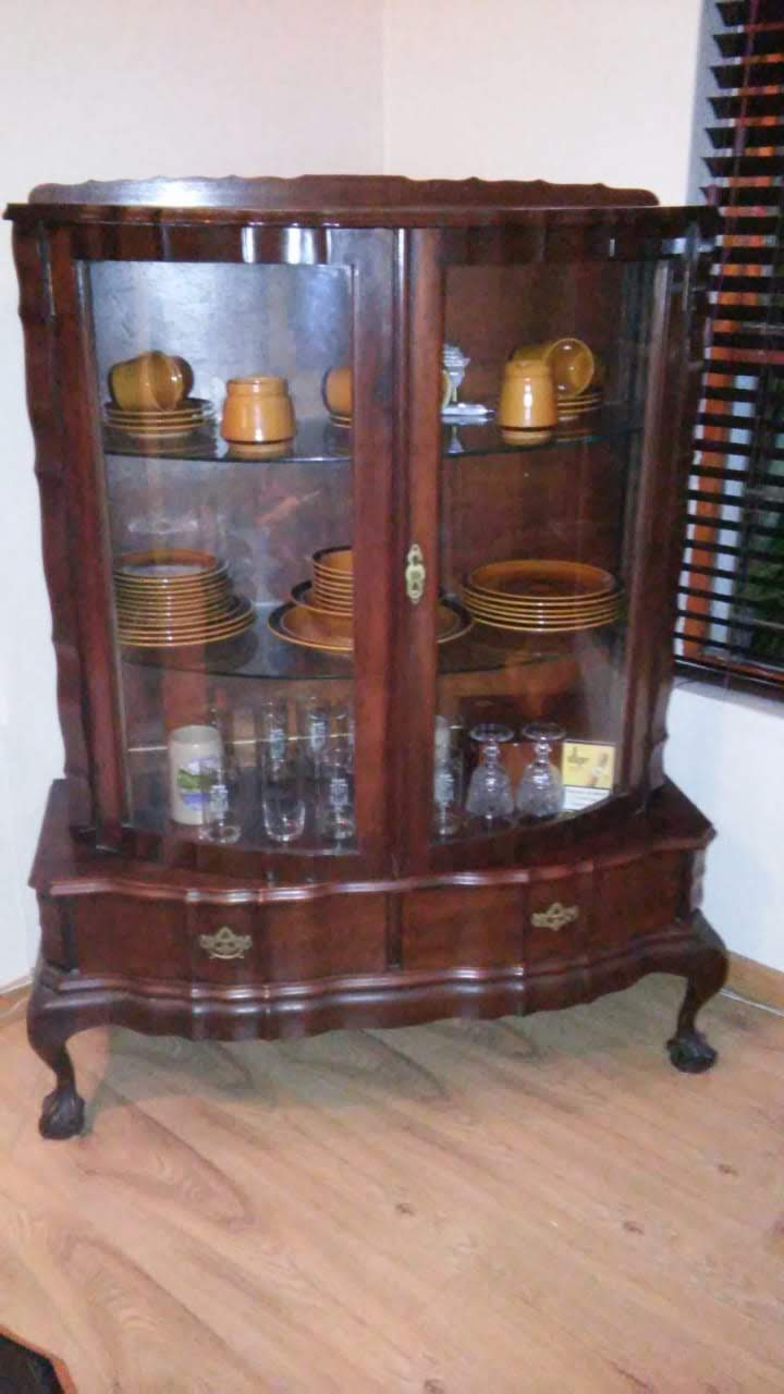 Imbuia Ball And Claw Display Cabinet Junk Mail