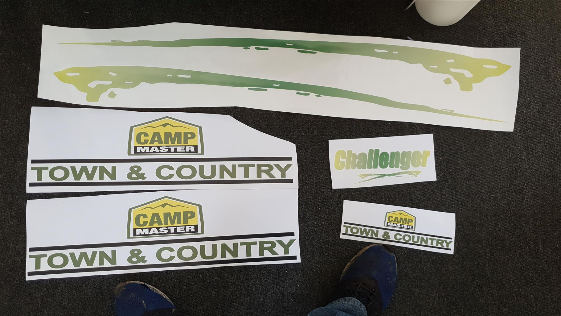 Vinyl caravan stickers