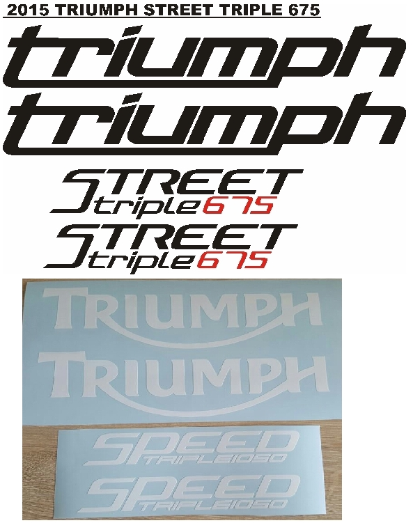 2010 Triumph Speed Triple 1050 decals / vinyl stickers / graphics kits
