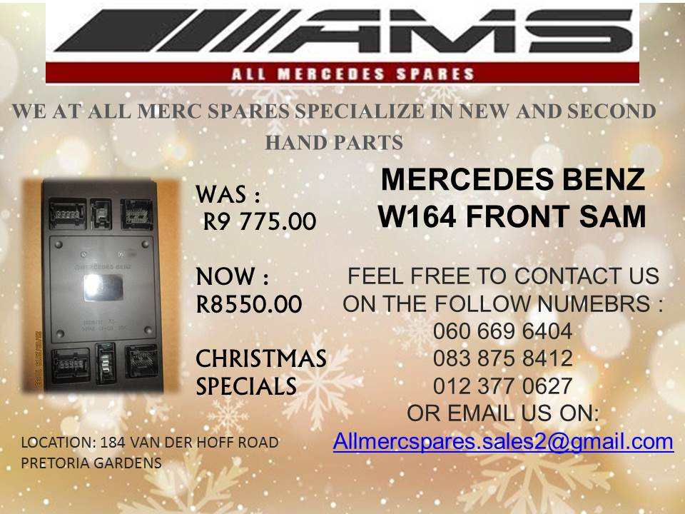 CHRISTMAS SPECIALS!! MERCEDES BENZ W164 FRONT SAM FOR SALE