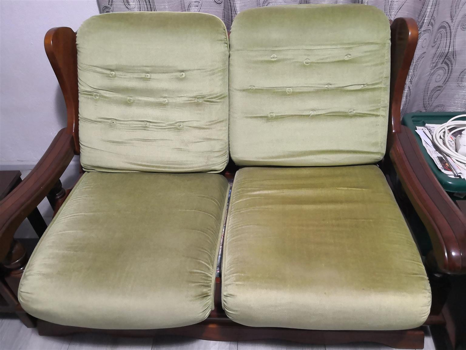6 piece imbuia lounge suite