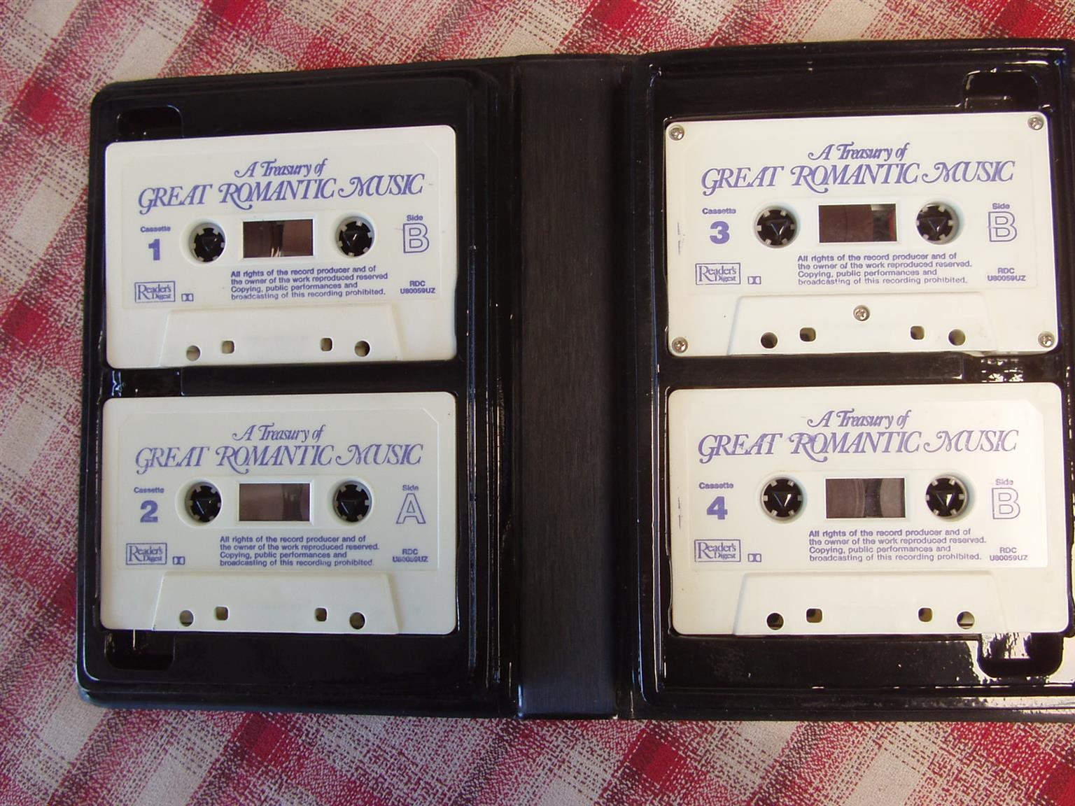 A Treasury of Great Romantic Music- Cassettes - In excellent condition