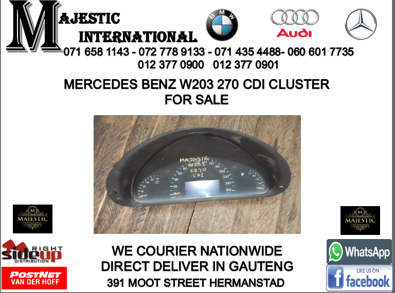 Mercedes benz W203 cdi cluster for sale