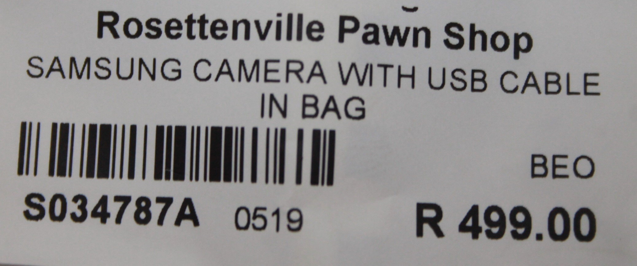 S034787A Samsung camera with usb cable in bag #Rosettenvillepawnshop