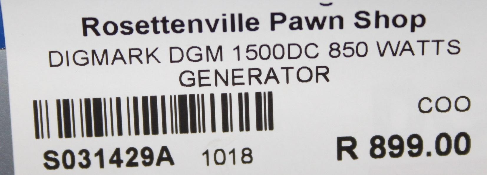 Digmark DGM 1500 DC 850Watts generator