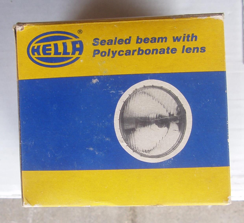 Vintage Hella Sealed beam lens - 12V
