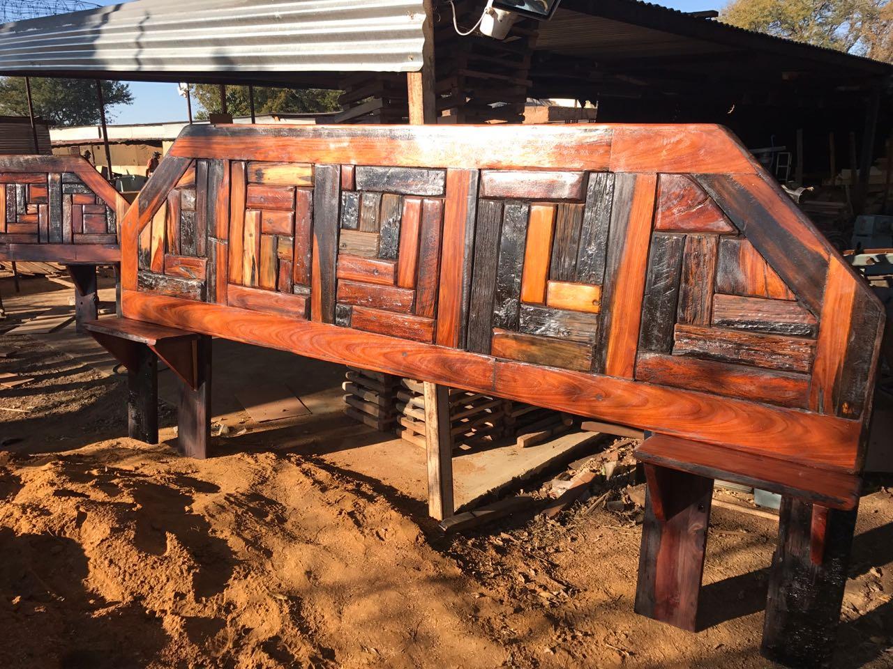 Sleeper wood head board