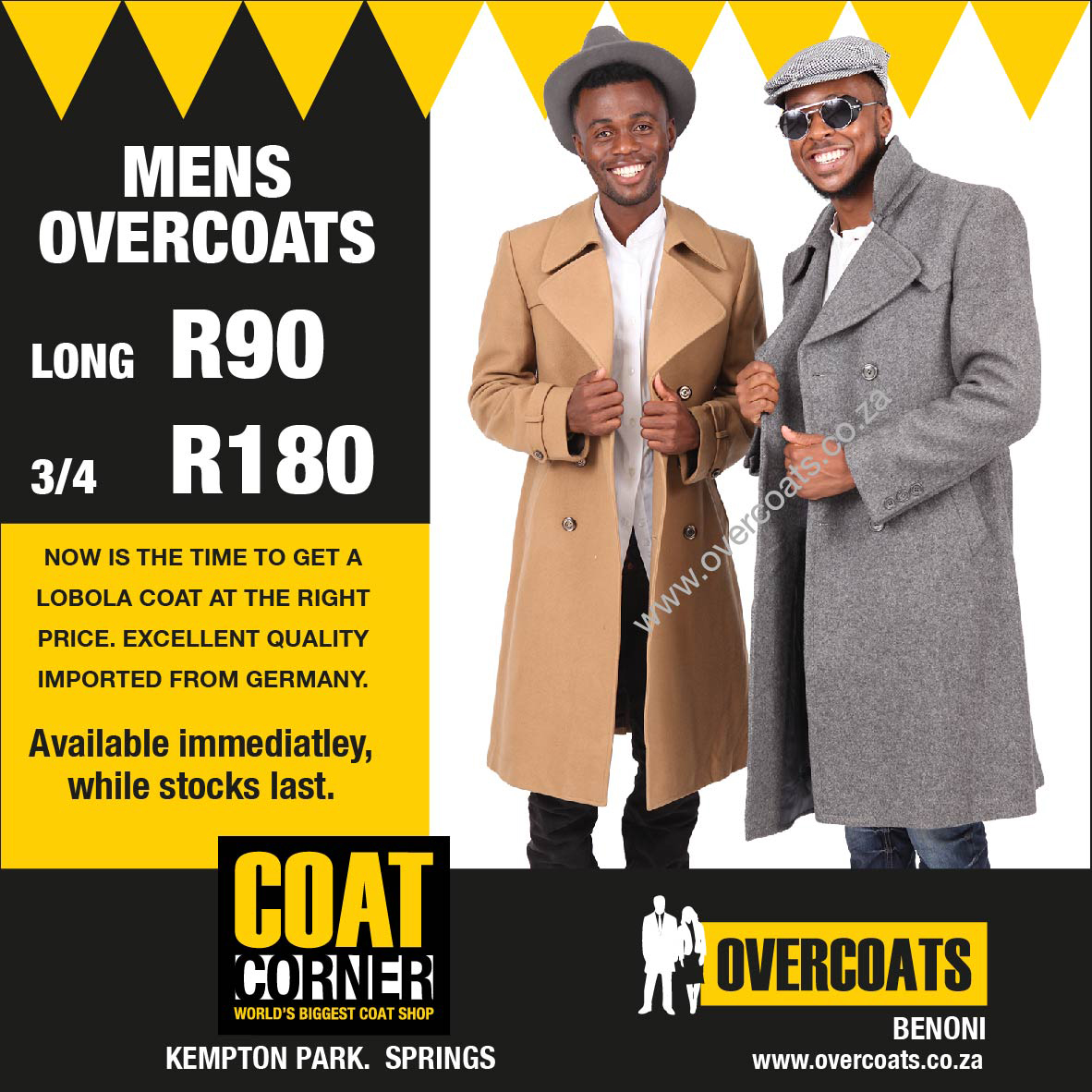 Coats now on sale!