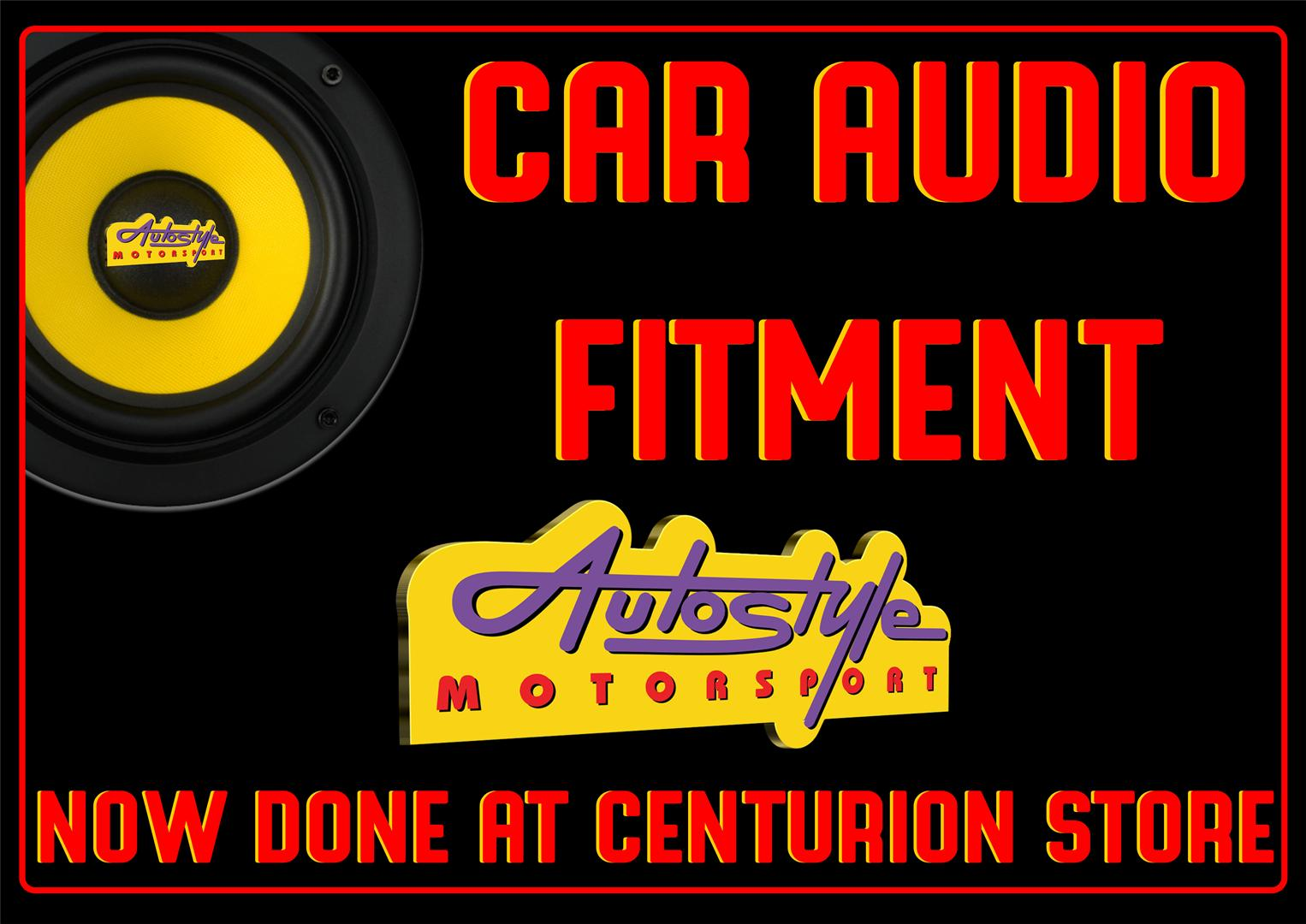 Car Audio fitment available