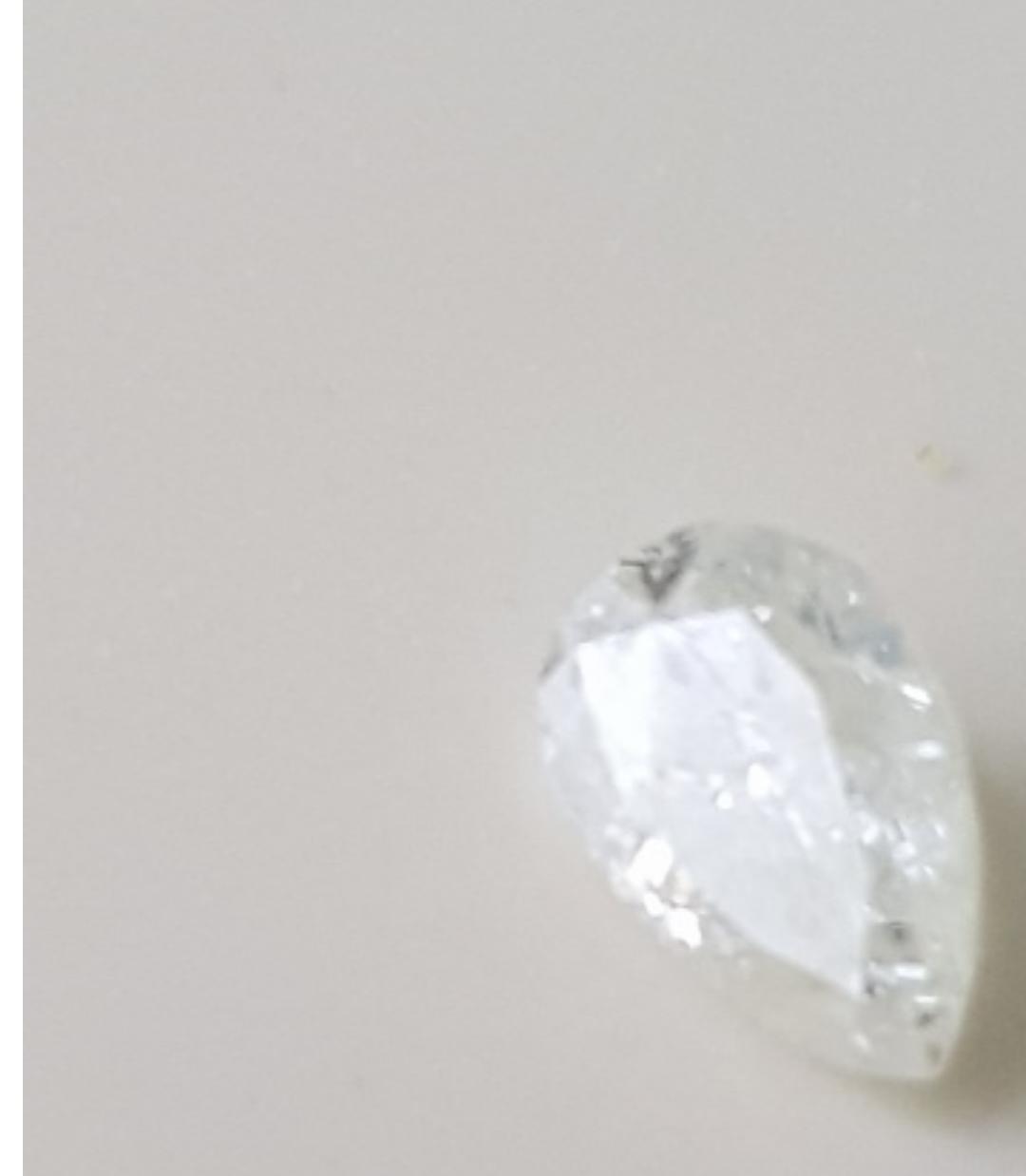 Pear shaped diamond loose diamond