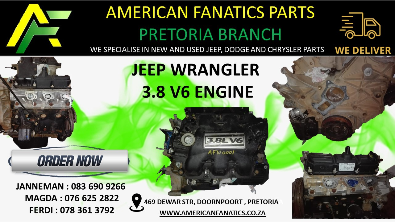 Jeep Wrangler 3.8 V6 Engine