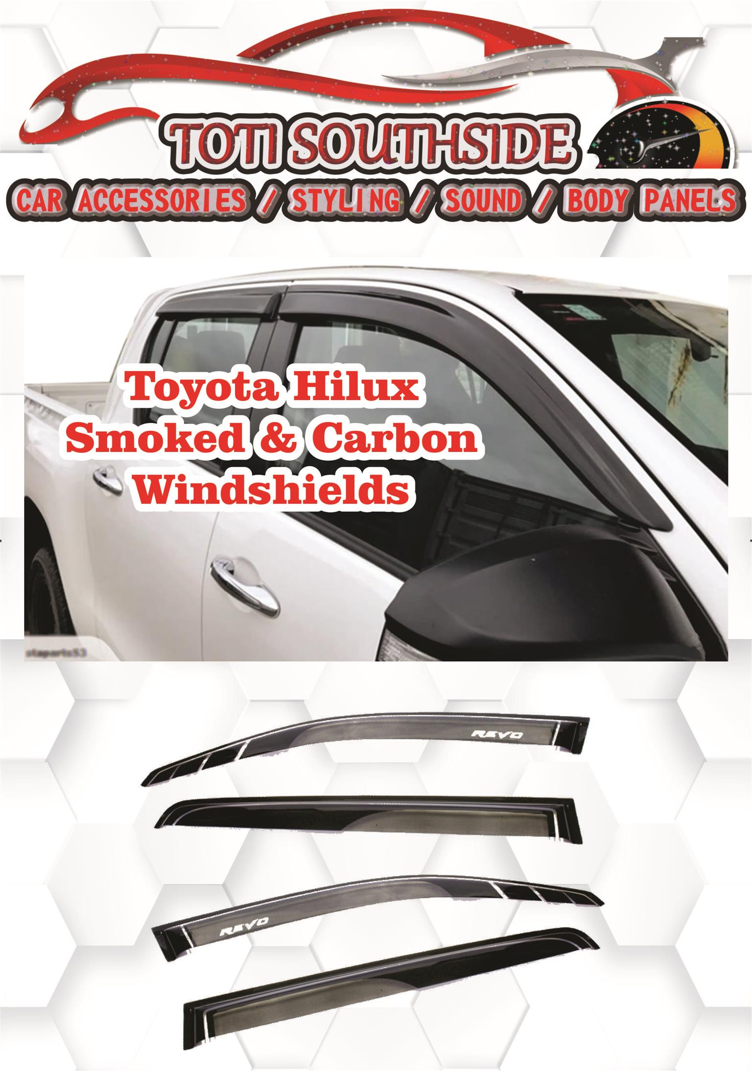 Toyota Hilux Bonnet Guards & Windshields