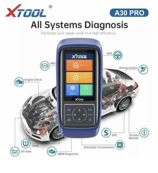 XTOOL A30 PRO Touch screen OBD2 Car Automotive Diagnostic Tool