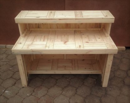 Reception Counter with Top Armrest Farmhouse series 1500 - Raw