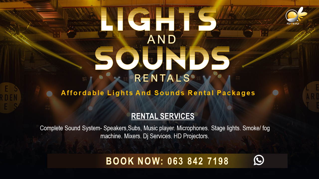 Affordable Lights and Sounds Rental for outdoor and indoor events.