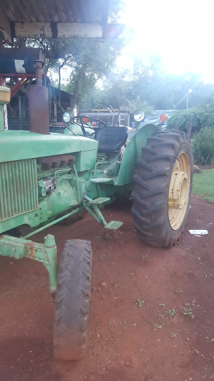 2130 John Deere with Bushcutter and 3 Disc Plough