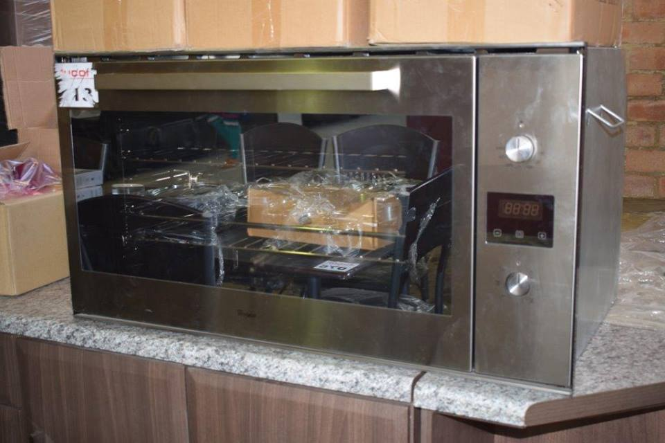 Silver microwave for sale