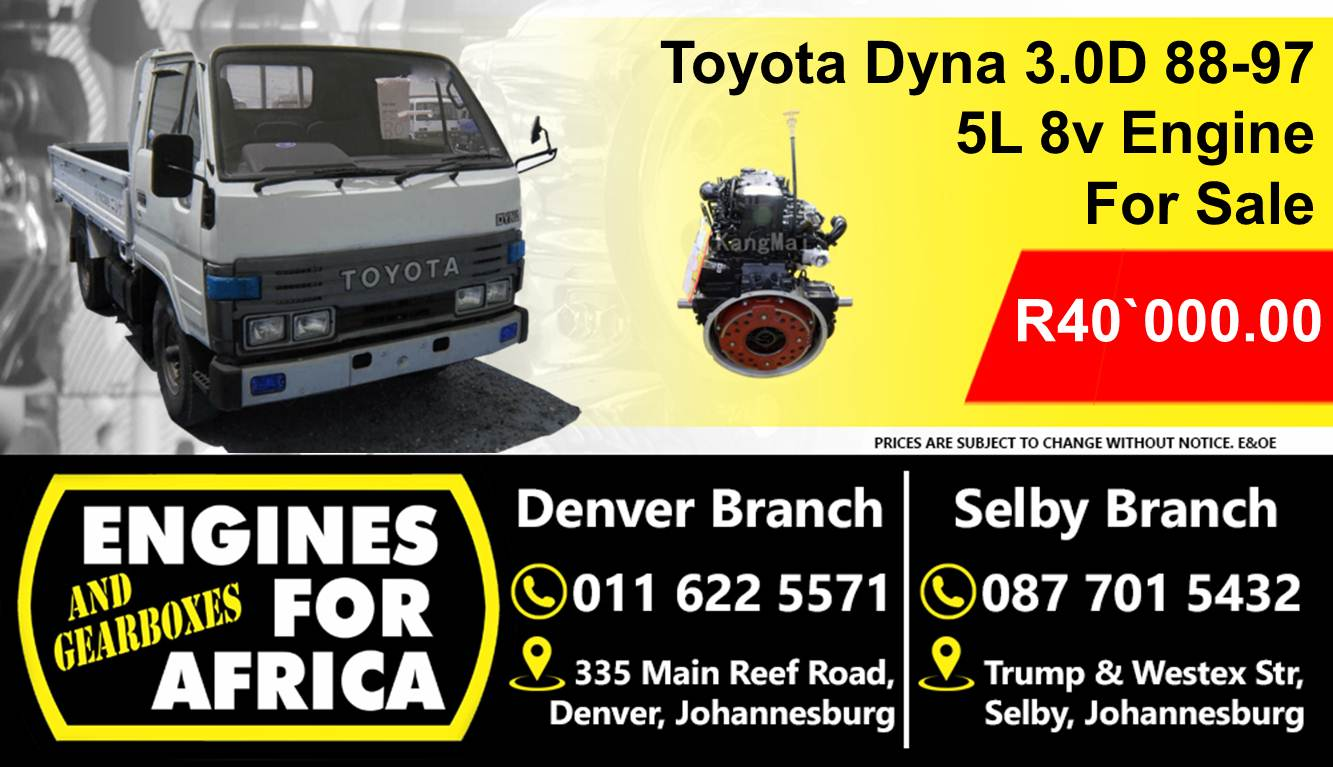 Toyota Dyna 3 0D 88-98 5L Engine For Sale