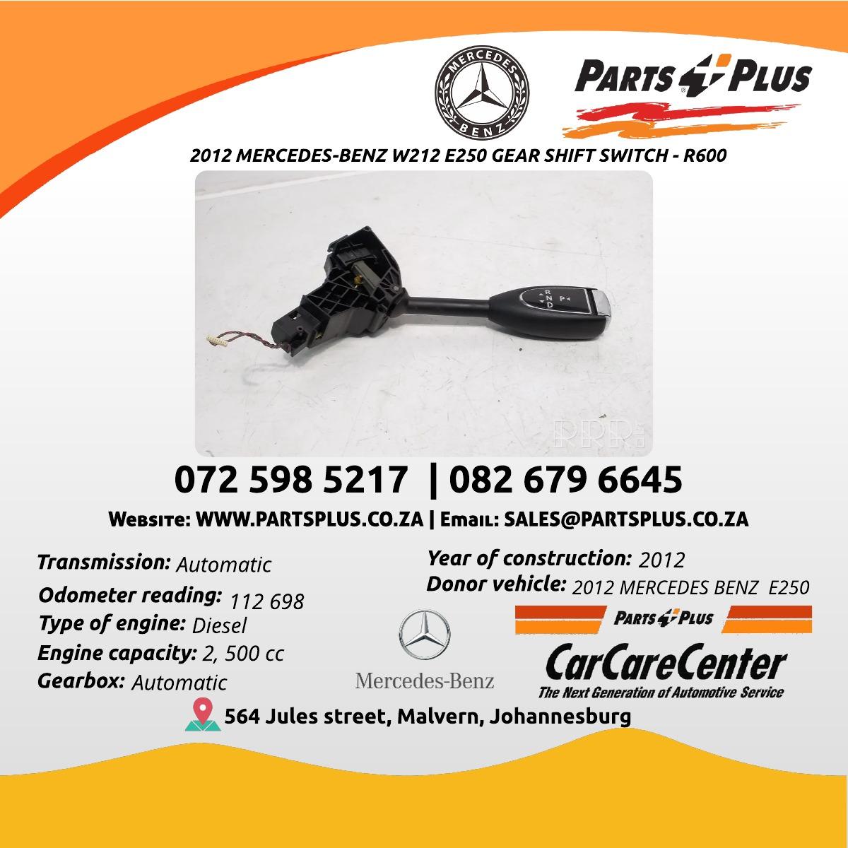 2012 MERCEDES-BENZ W212 E250 GEAR SHIFT SWITCH
