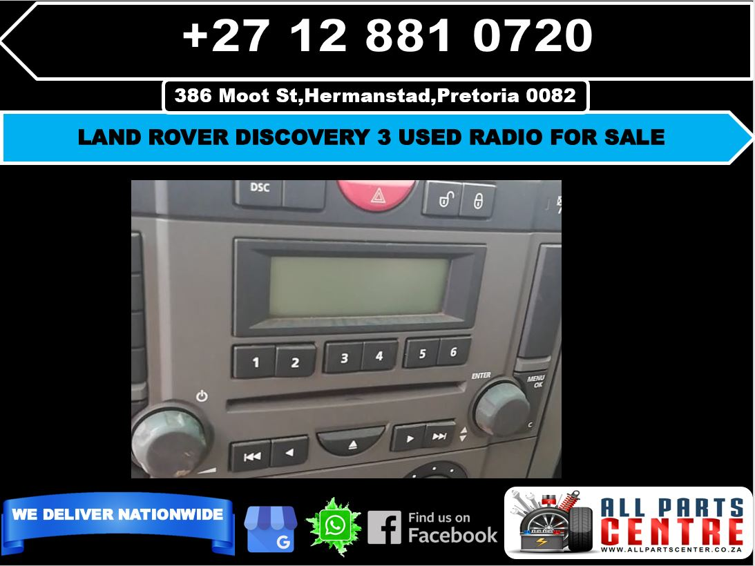 Land Rover discovery 3 used radio for sale