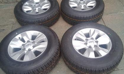 New Bridgestone dueler A/T 265/65/R17 Tyres and Mags for Toyota Hilux , for R9000 {Set of 4}