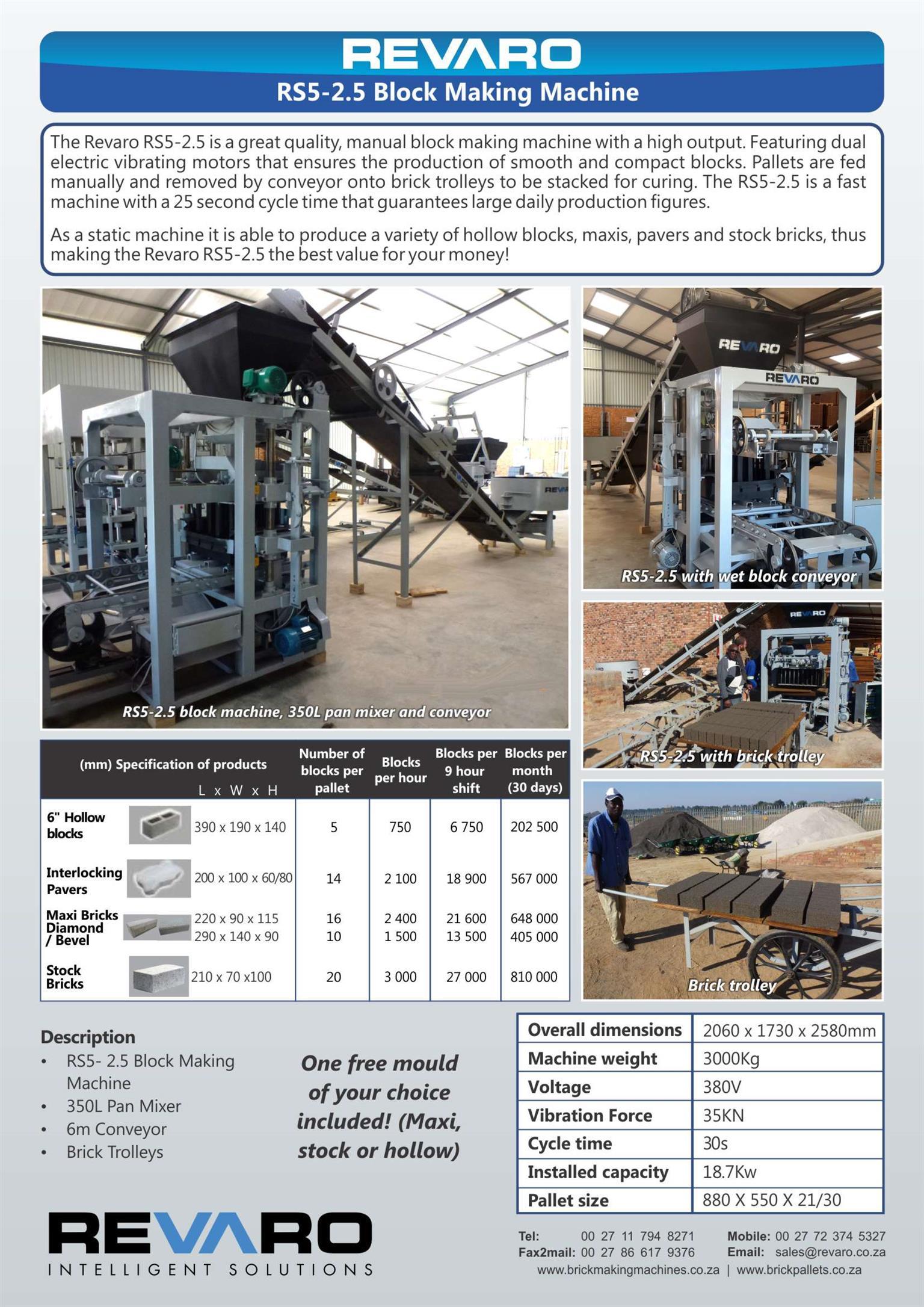 Brick making machine static manual high output