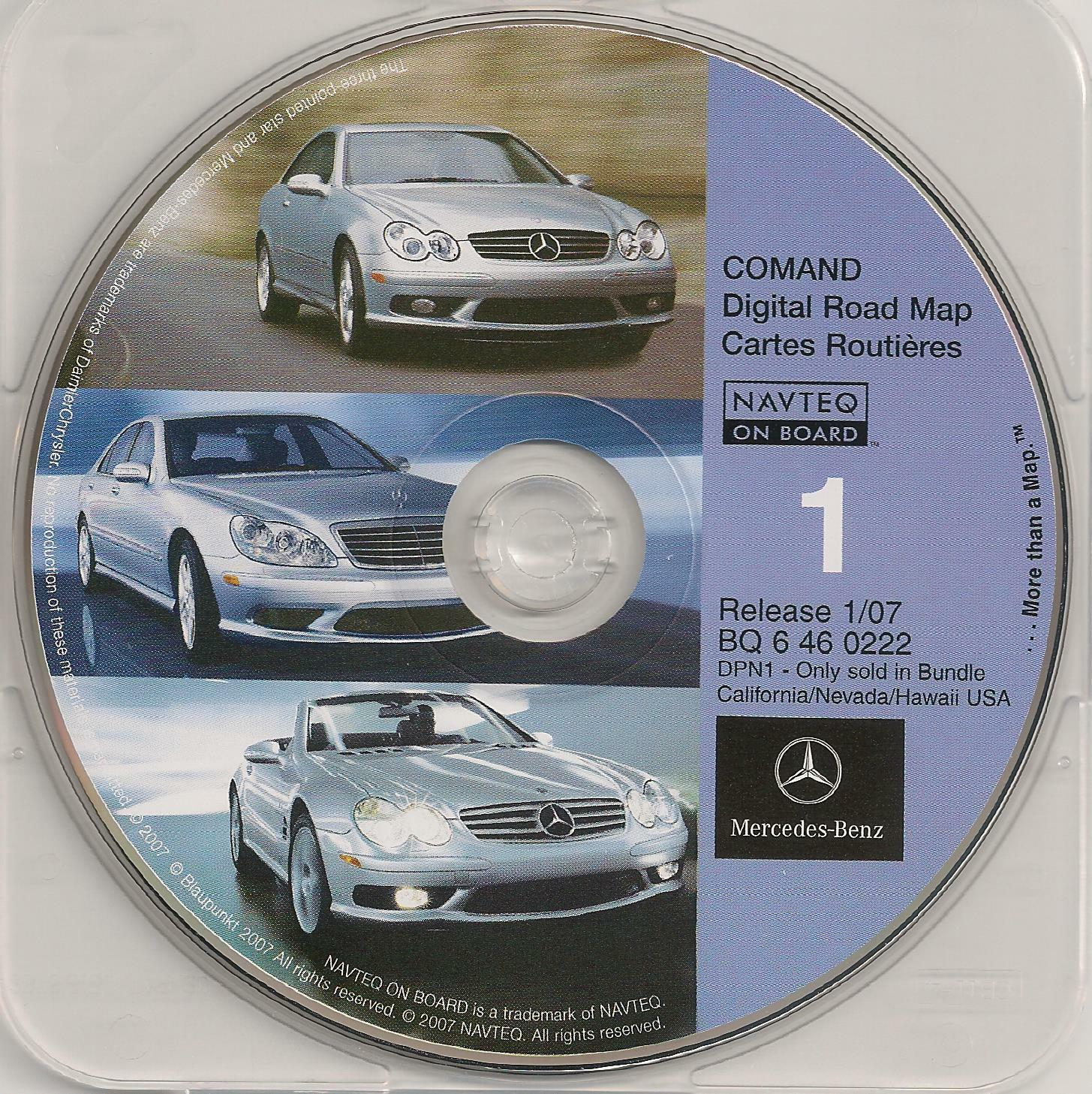 Wanted: Mercedes COMAND Navigation Disc