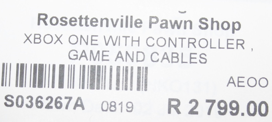 Xbox one with controller, game and cable S036267A #Rosettenvillepawnshop
