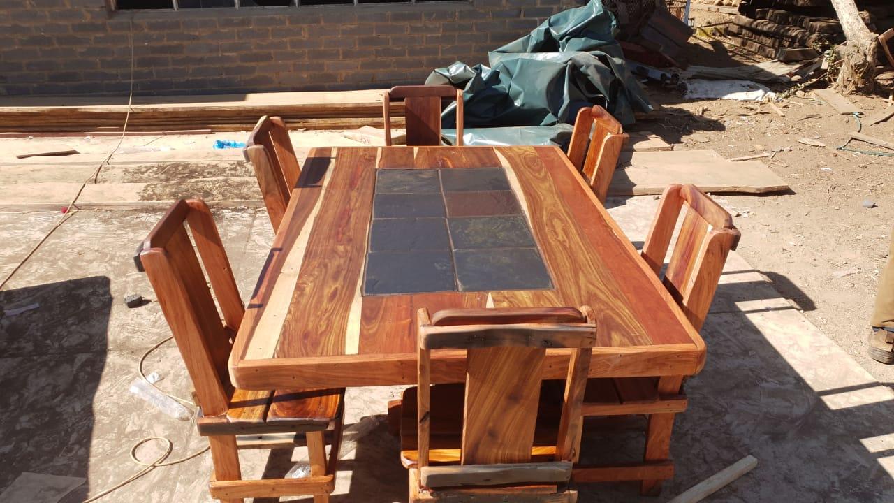 Diningroom suite - sleeper wood