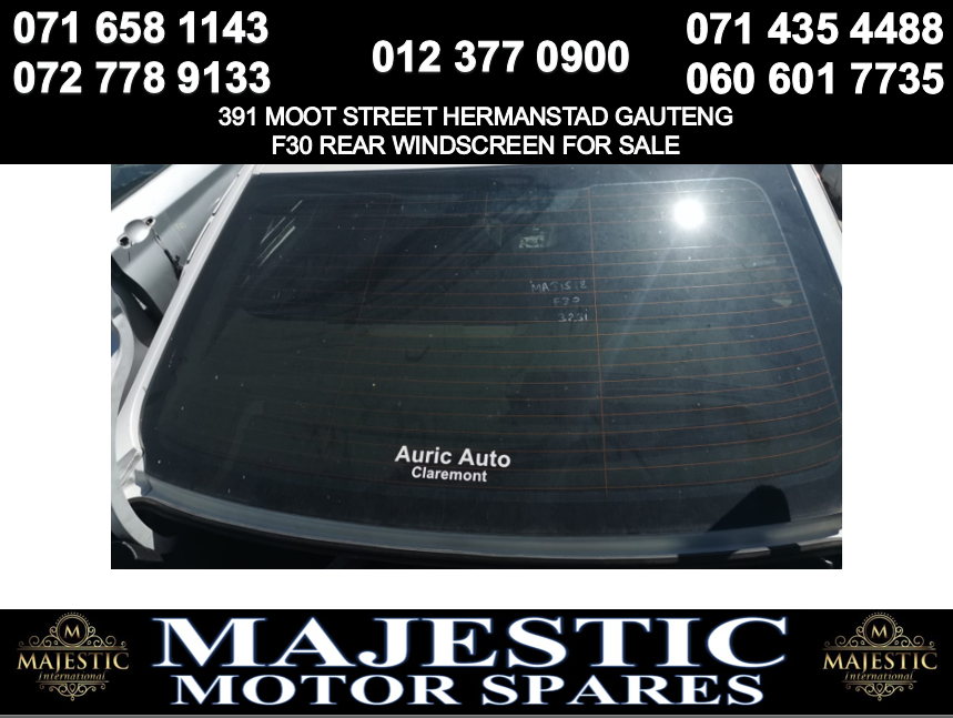 Bmw F30 windscreen for sale rear used