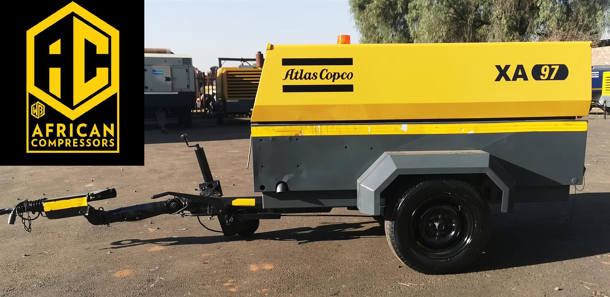 2013 Atlas Copco 190cfm Mobile Diesel Compressor
