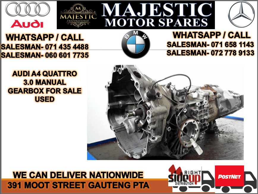 Audi a4 3.0 auto gearbox for sale