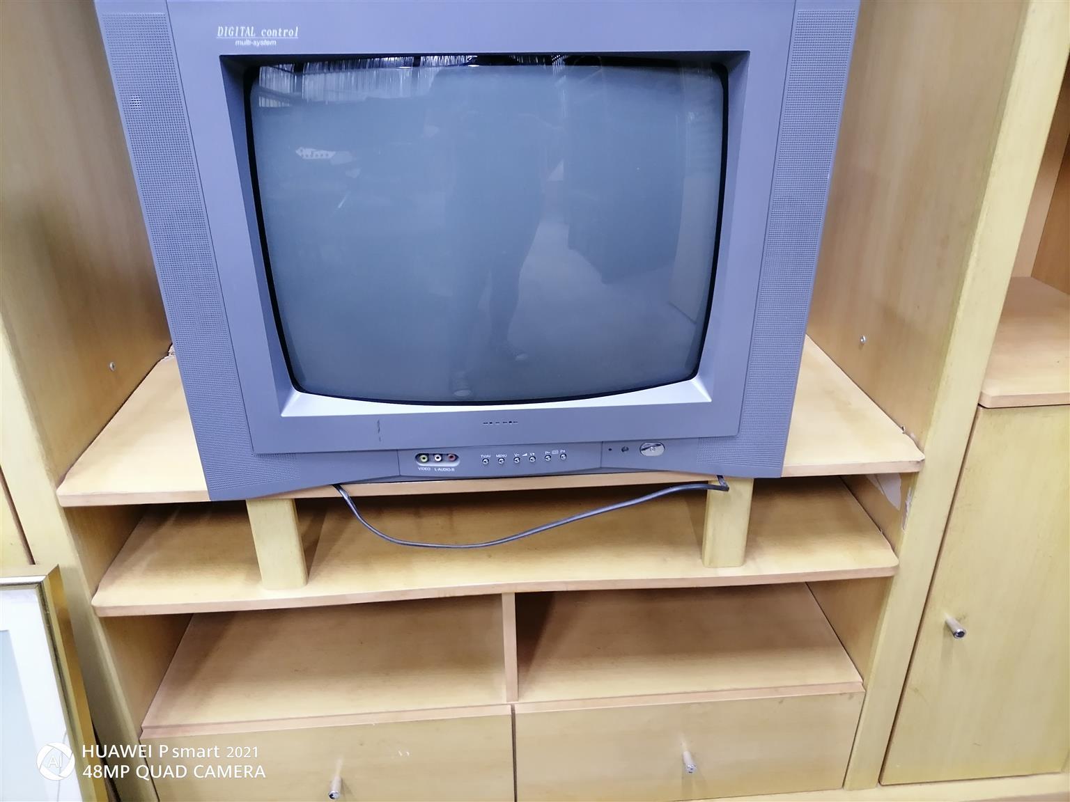 big vintage color tv