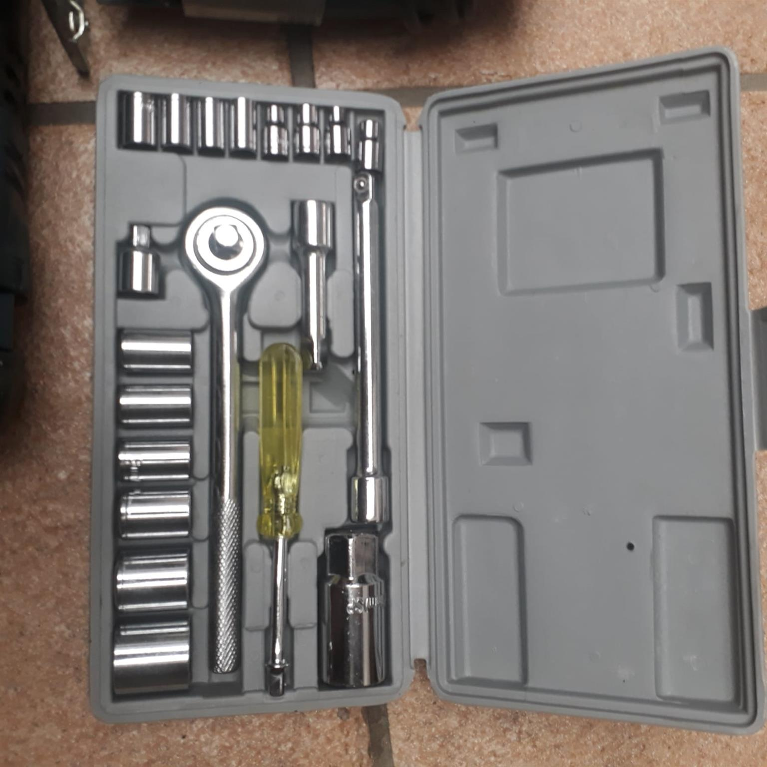 RYOBI jigsaw, AEG impact drill and socket set.  All good working order.  3 items being sold together