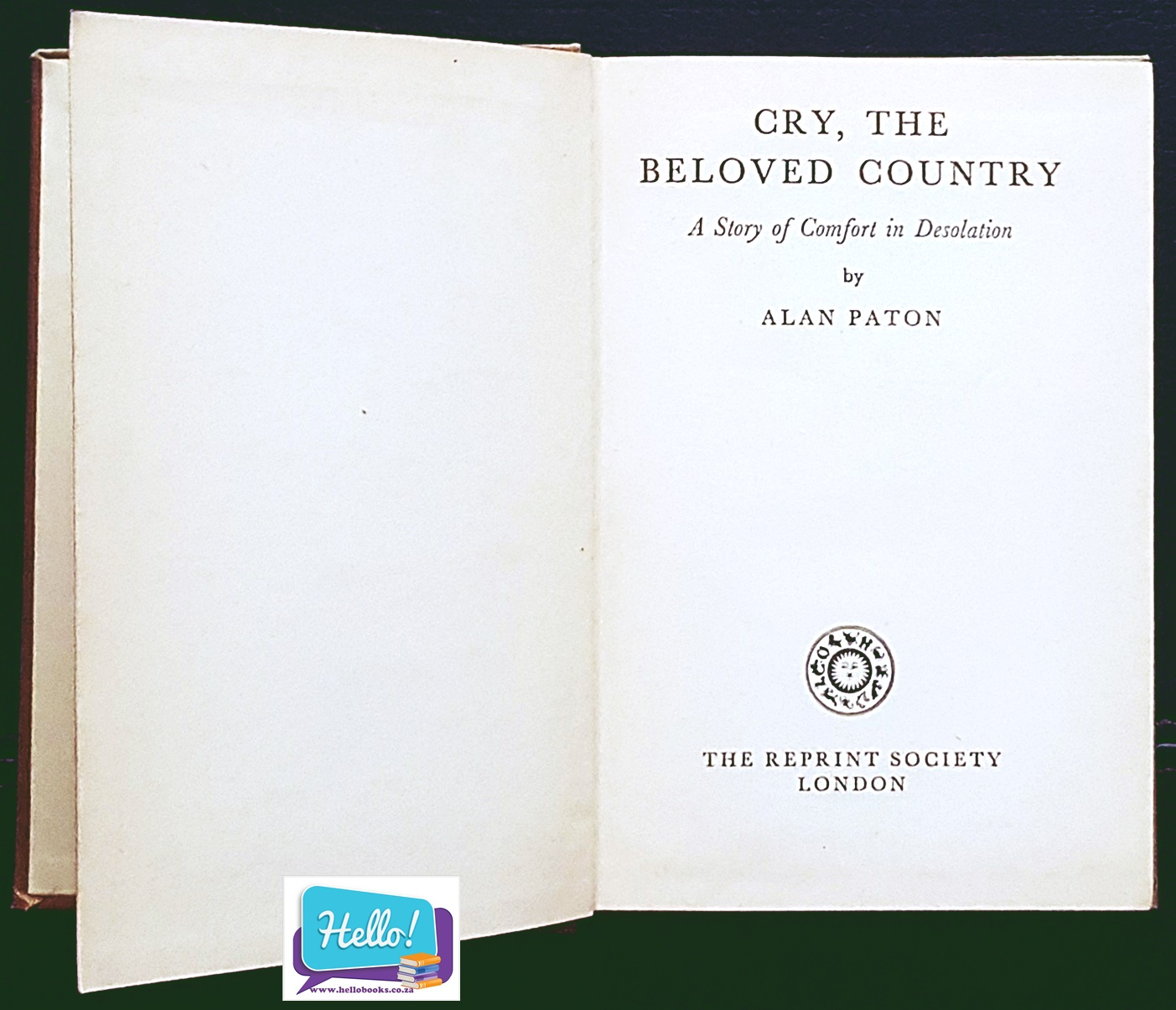 Alan Paton Cry, The Beloved Country