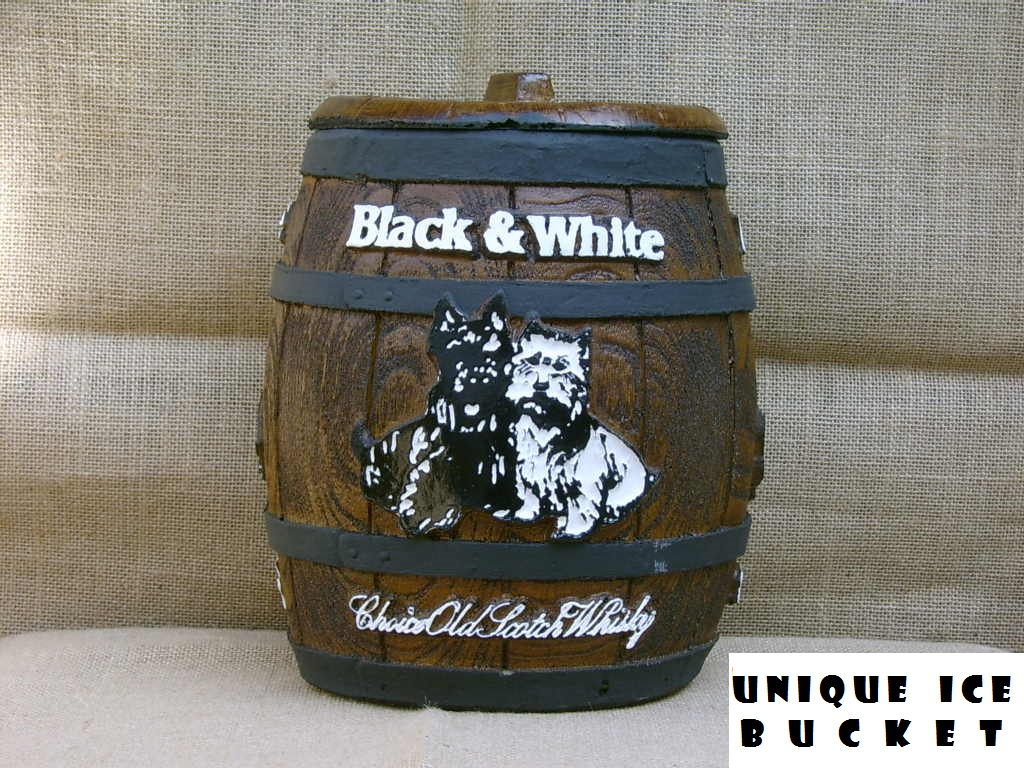 ICE BUCKET: BLACK & WHITE SCOTCH WHISKY. Brand New Product.