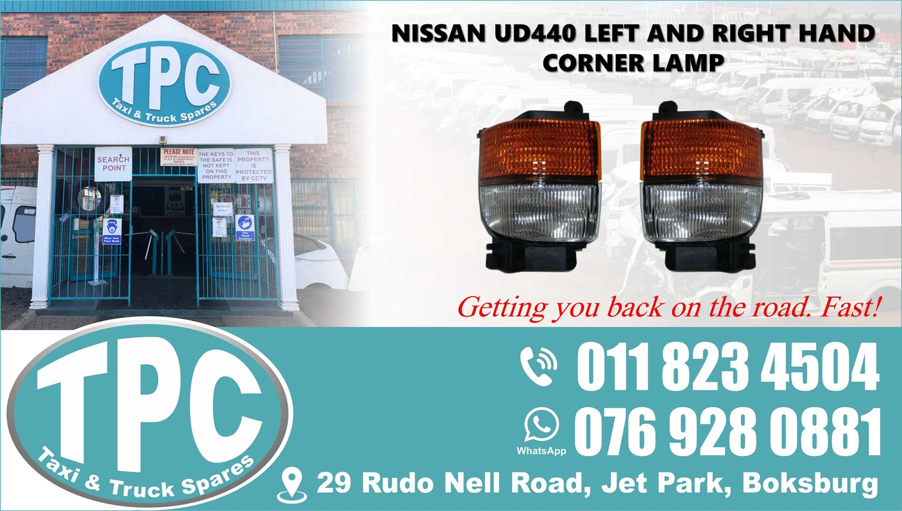 Nissan UD440 Left and Right Hand Corner Lamp