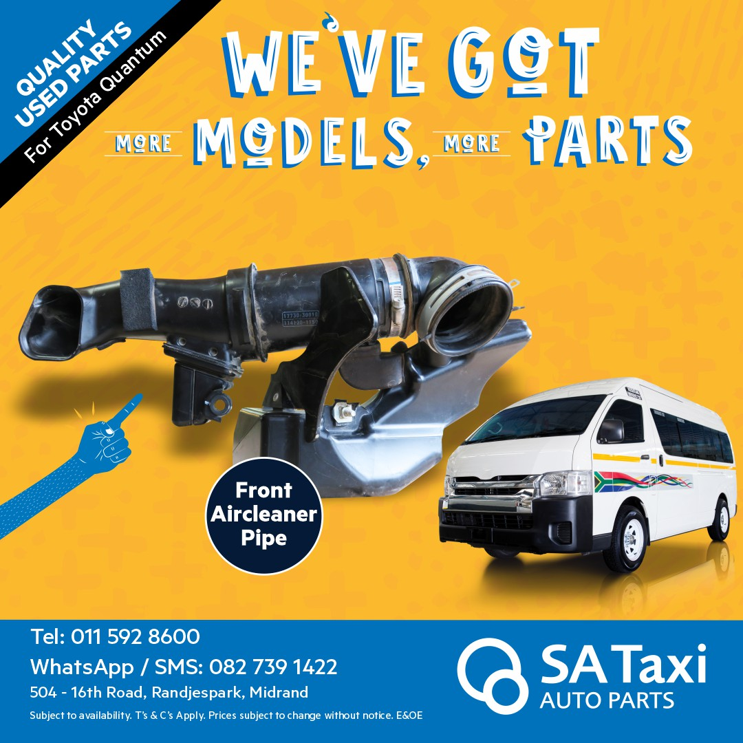Front Aircleaner Pipe suitable for Toyota Quantum - SA Taxi Auto Parts