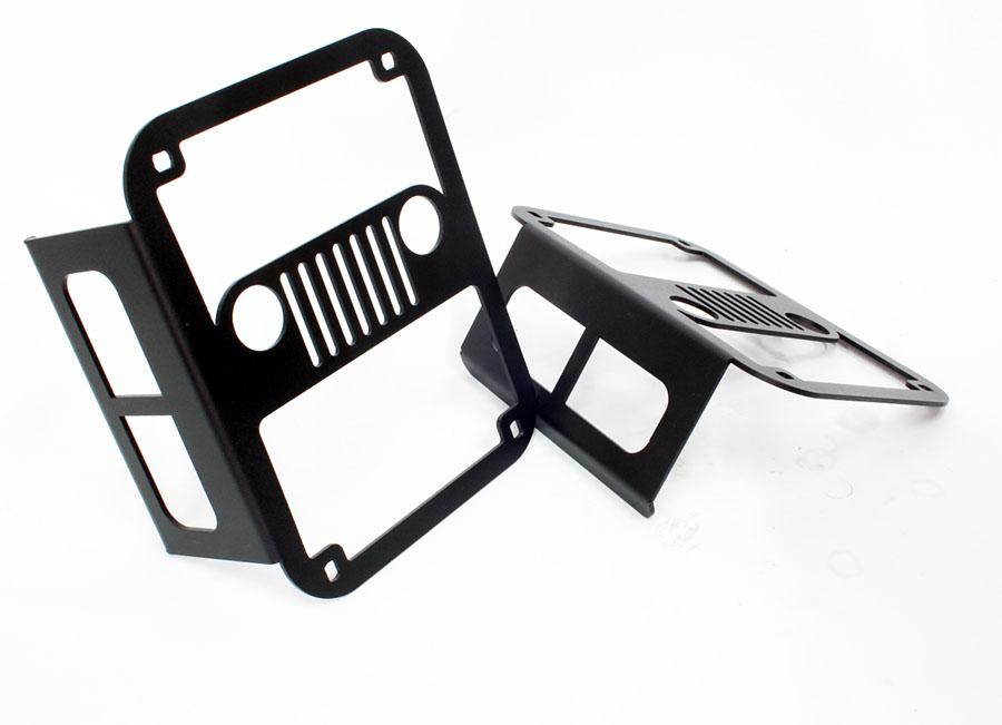 Jeep Wrangler Matt Black Angry Bird Grille Kit