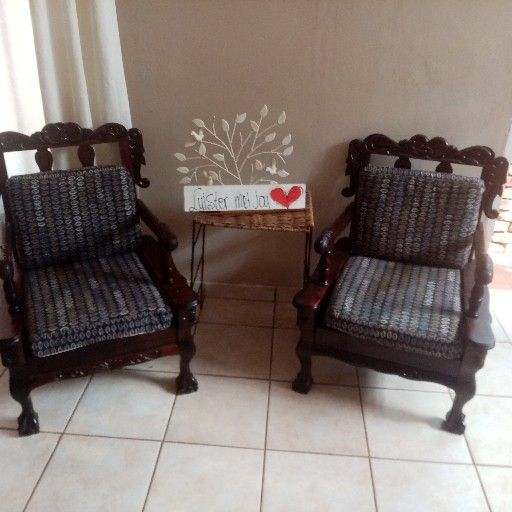 Newly retired antique table and chairs