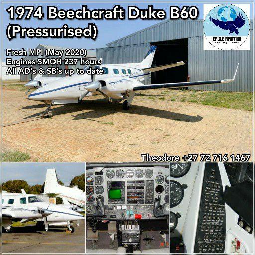 1974 BEECHCRAFT DUKE B60