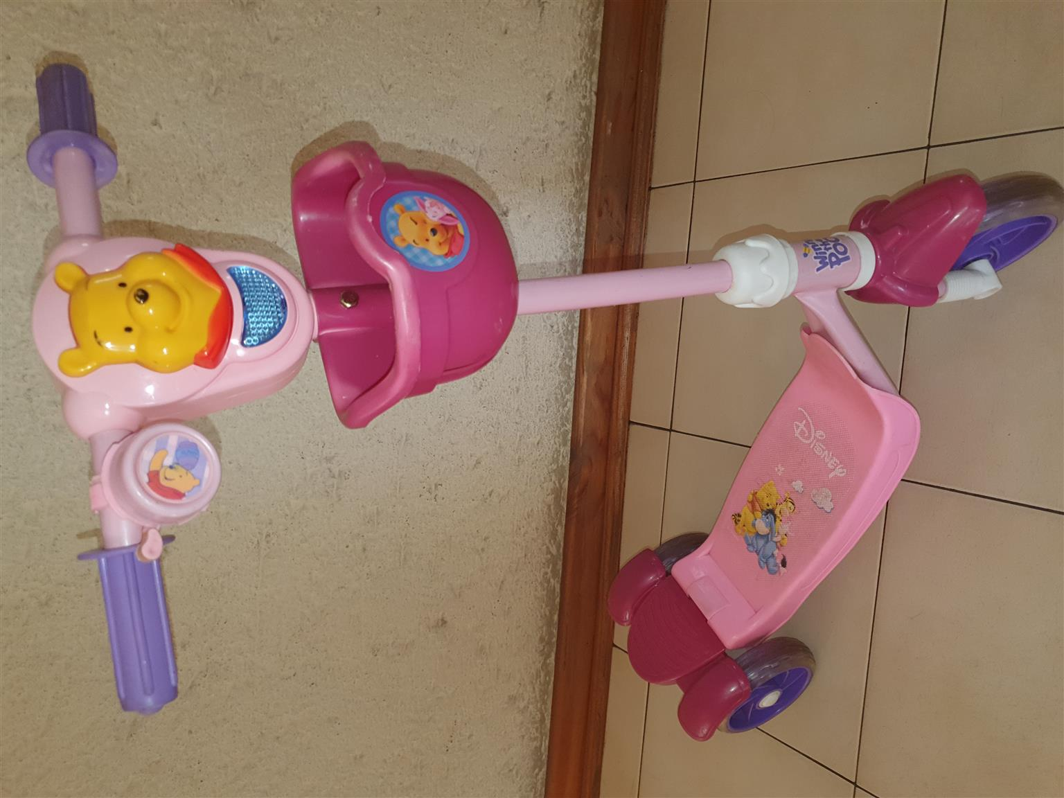 Disney Pooh Bear Scooter with brake and bell. Limited Edition