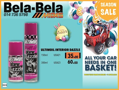 Get Ultimoil Interior Dazzle at these LOW prices!