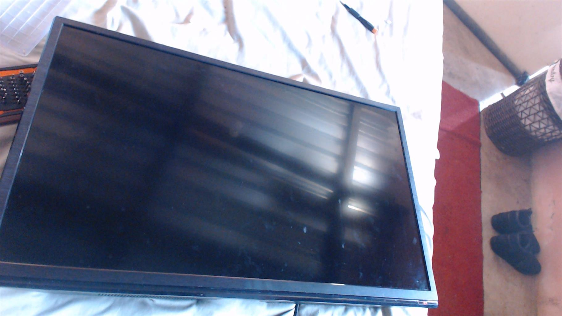 sansui 32inch cracked screen but working for parts